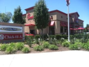 Bakersfield Chick-fil-A from the street